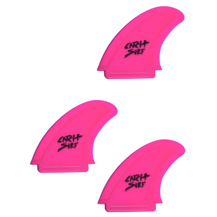 Catch Surf Fins - Hi-Perf Safety Edge: Tri Fin Set Hot Pink