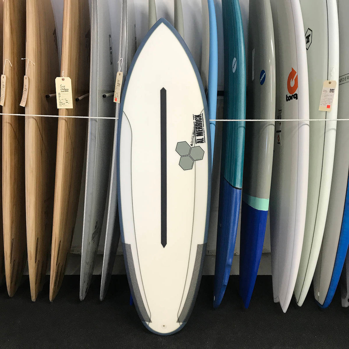 Channel Islands Mini Dual-Core 5'5 - Clear/Red - FCSII