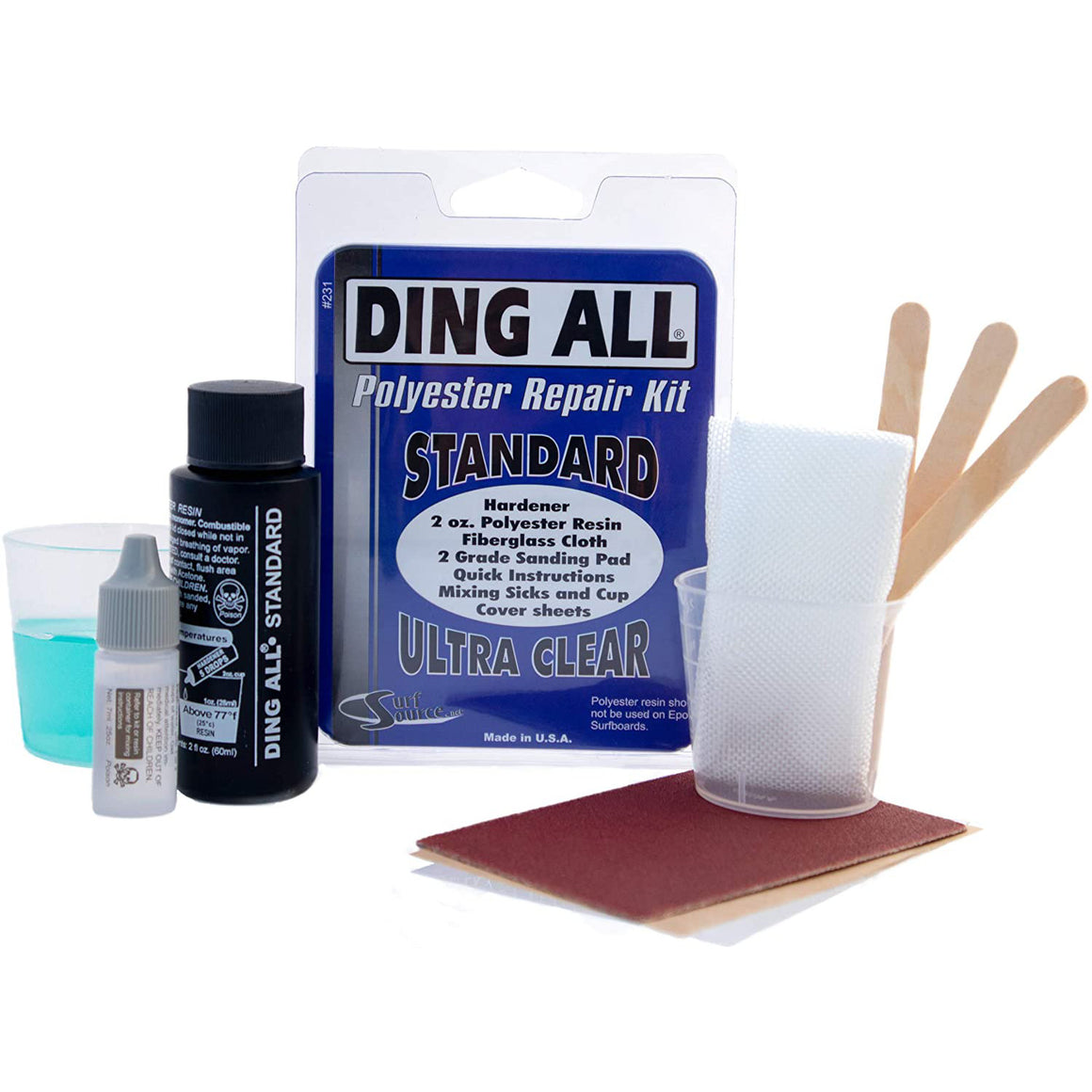 Ding Repair - Ding All Standard (polyester) Repair Kit