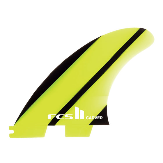 FCS II 3 Fin - FCSII Carver Neo Glass Yellow/Black Stripe (L)