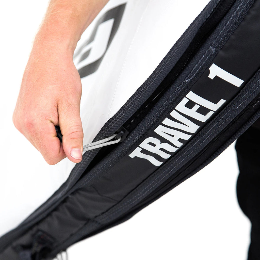 FCS board bag - Travel 1 Funboard Bags Black-Grey
