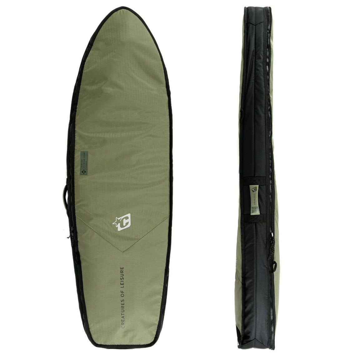 Creature of Leisure board bag - Fish Double DT2.0 Military Black