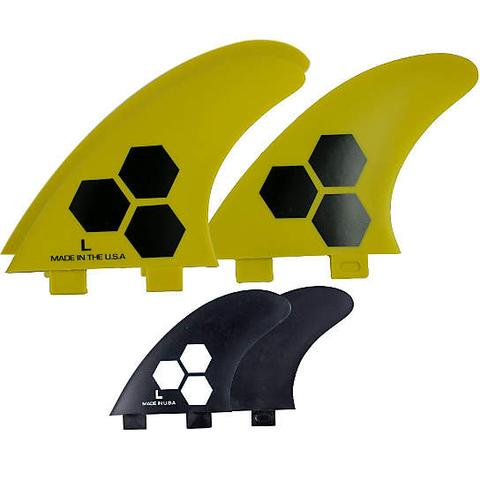 FCS/2 tab 5 Fin Channel Islands set 2-tab FRP/RTM Tech1 3-fin Yellow/Black (L)