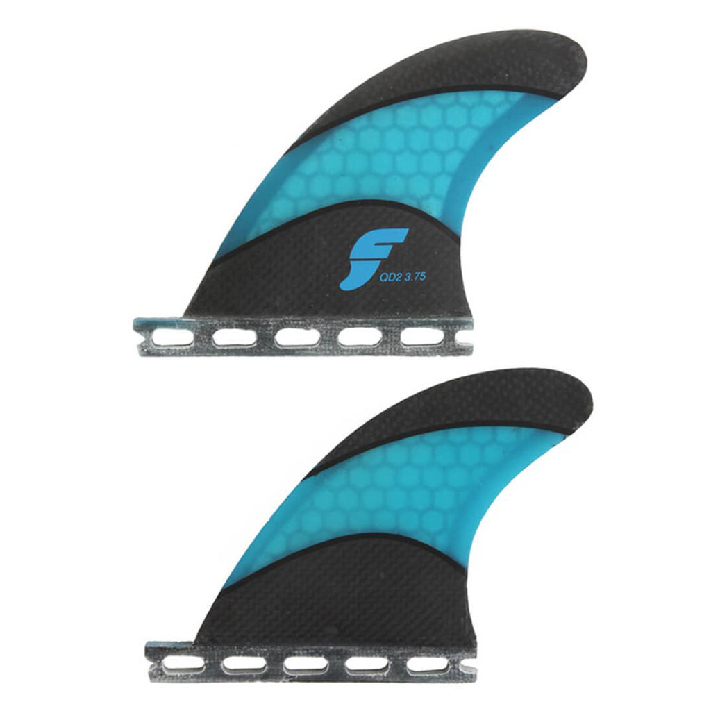 FUTURES QD2 3.75 Techflex Quad Rear Fin Pair Black/Blue
