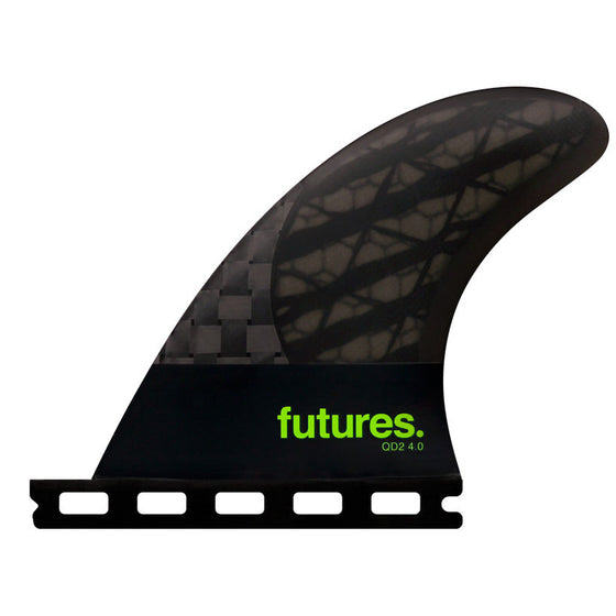 Futures Blackstix 3.0 QUAD TRAILERS - Smoke/Light Green - QD2 4.0 80/20