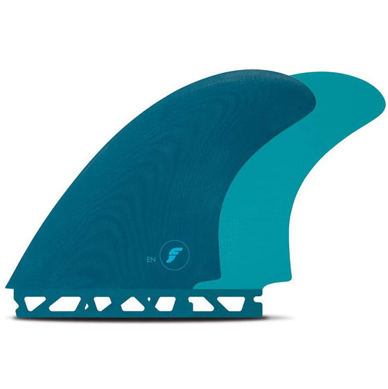 Futures - TWIN - EN Fiberglass Twin Fin Set, Teal
