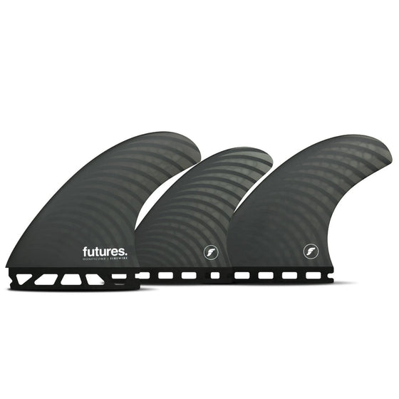 Futures - 5-FIN SET - Firewire Dan Mann Tri/Quad Fin Set-Dark Gray-Large