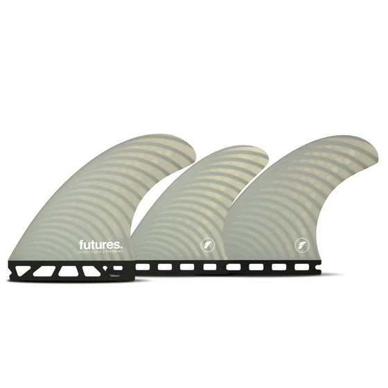 Futures - 5-FIN SET - Firewire Dan Mann Tri/Quad Fin Set-Light Gray-Medium