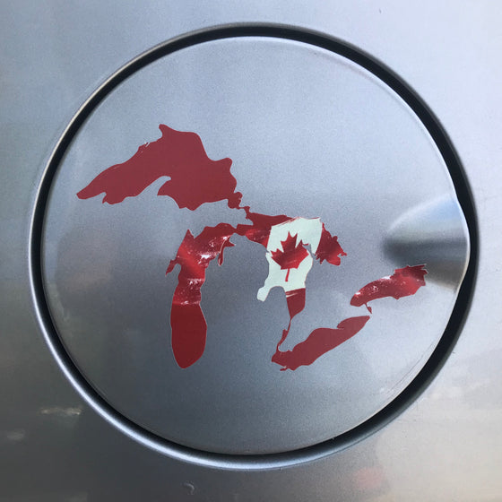 Stickers - Great Lakes Stoke - Canada - Red