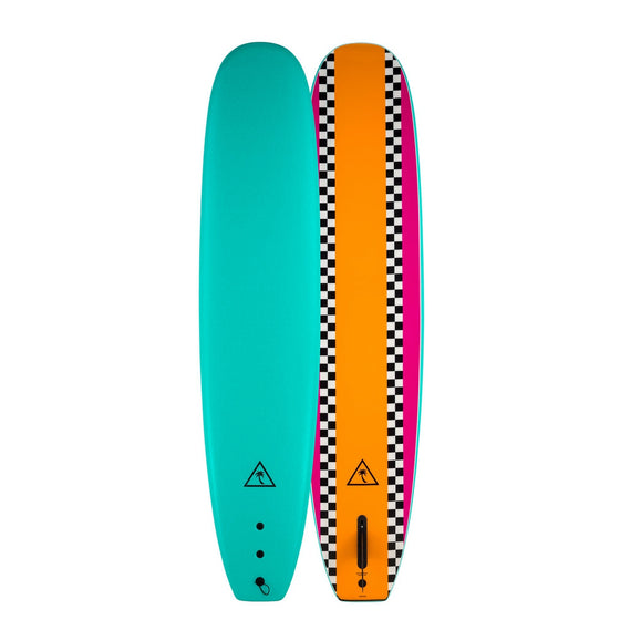 Catch Surf Heritage 8'6 Noserider - Single Fin - Turquoise/Orange 20