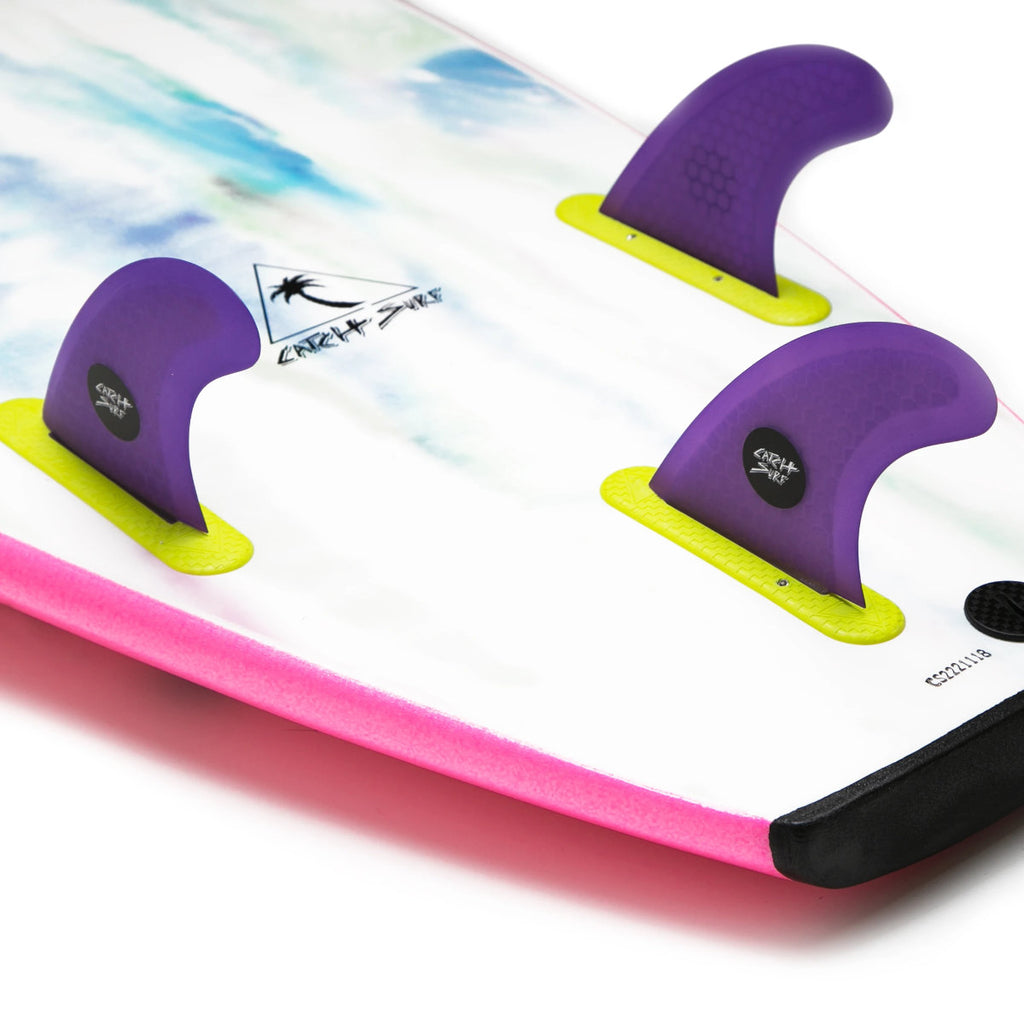 Catch Surf Fins - Hi-Perf Honeycomb Tri Fin set Purple