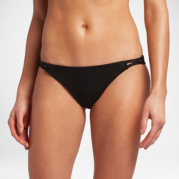 Hurley Women's Quick Dry Cheeky Swim Bottoms - Black
