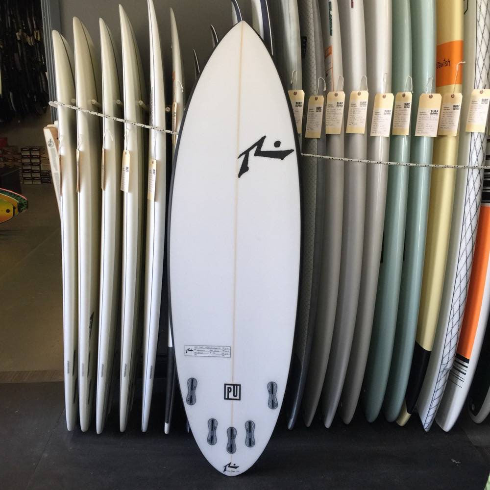 "Rusty 5'10"" Smoothie - Blue with Black Rails - pu - 5 fin FCS2 - Surf Ontario"