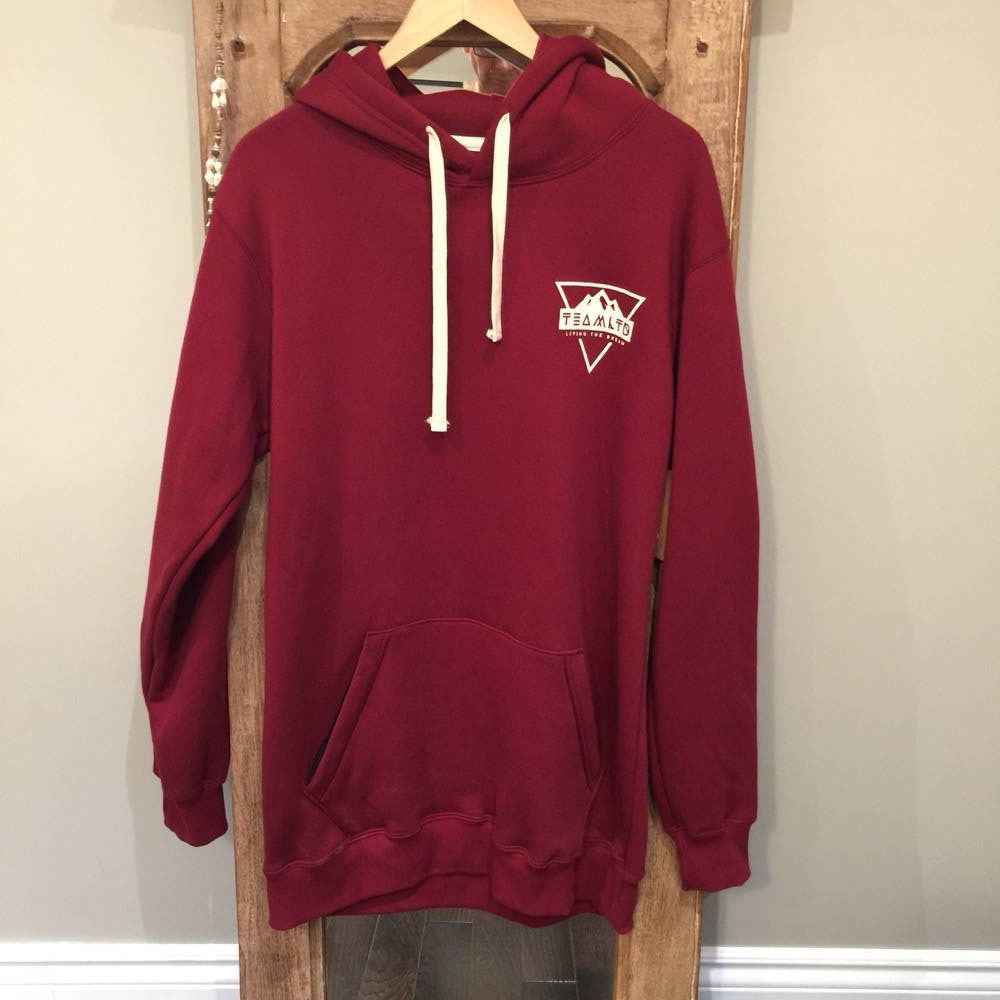 Hoodie - Team LTD - Dark Red with White logo - Surf Ontario