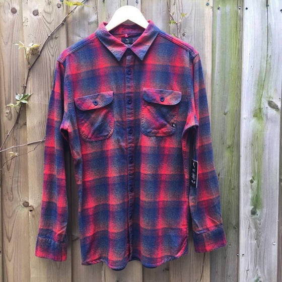 SHIRT - Mens Lost Longsleeve shirt - RED - Surf Ontario