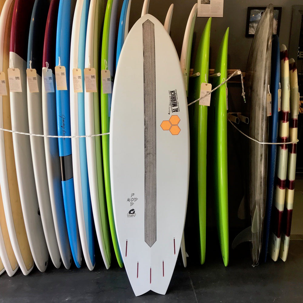 Channel Islands PodMod 6'6 - 5 fin FUT - X-LITE - Grey + Orange - Surf Ontario