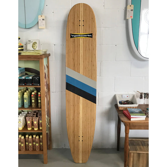"Hamboards Bamboo Classic 6'6"" NATURAL - blue stripes"