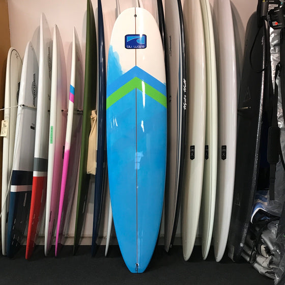 Blu Wave - Lake Log 8.0 Longboard Surfboard - Epoxy - Blu/Lime