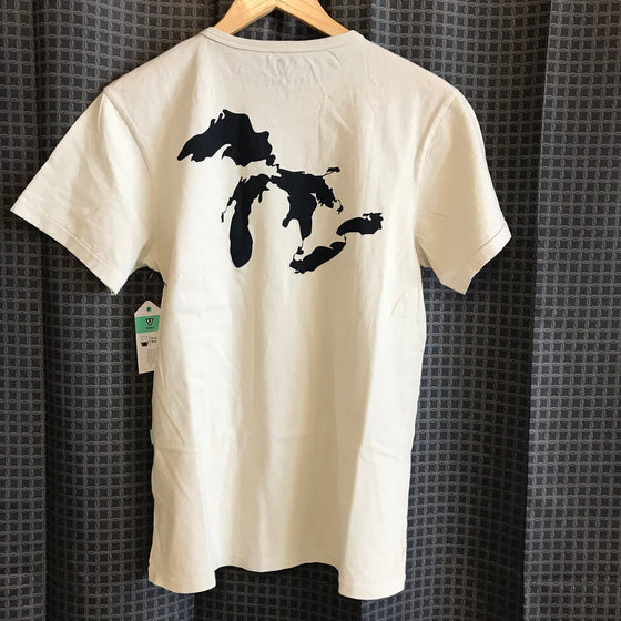 Vissla Surf Ontario Great Lakes Map T-Shirt - Cream