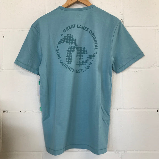 Vissla Surf Ontario Bubble Lakes T-Shirt - Light Blue