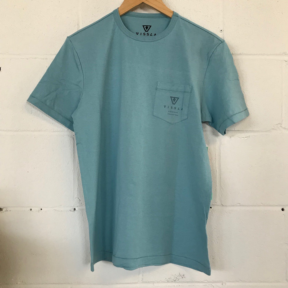 Vissla Surf Ontario Great Lakes Map T-Shirt - Light Blue