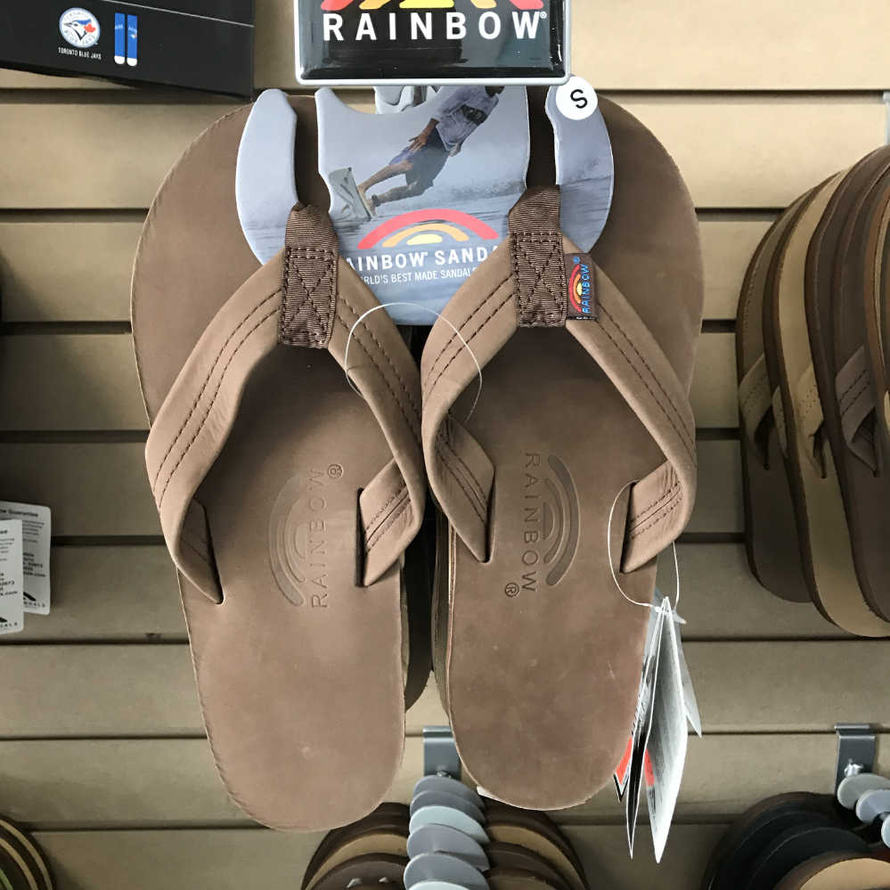c13fe03a8f65 Flip Flops   Sandals - Rainbow Original - 301 ALTS Premier Leather Single  Layer Thick