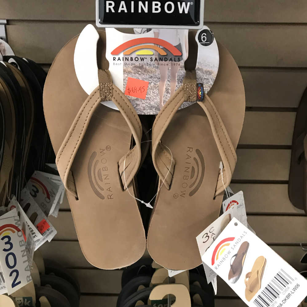 c20ea97e73b5 Flip Flops   Sandals - Rainbow Original - 301 - Catalina - Single Layer Tapered  Strap- Ladies