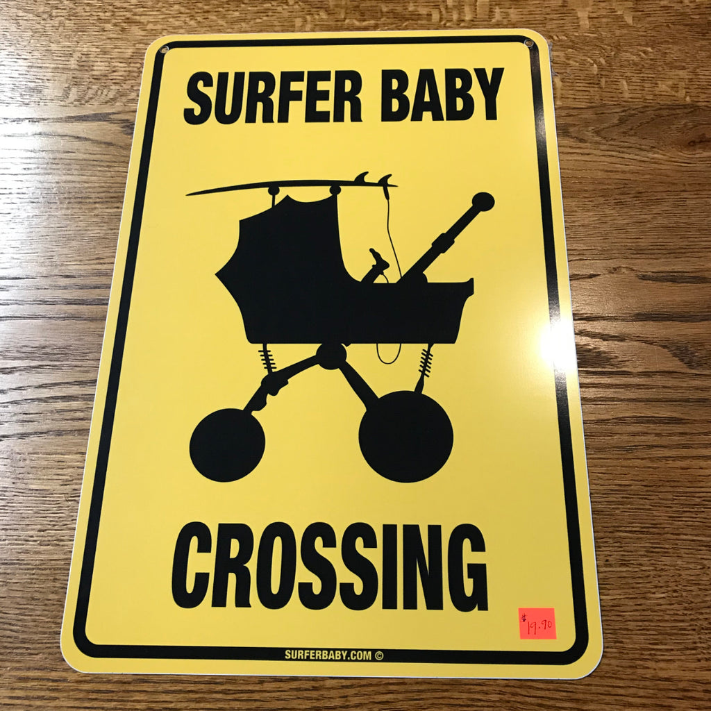 Surfer Baby Crossing sign