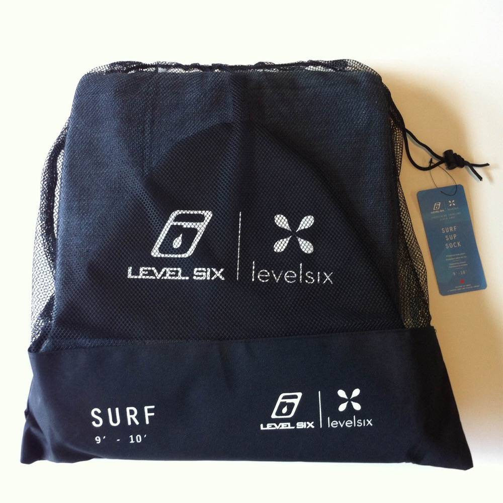 Level 6 Board Cover - 9' to 10' Surf Grey SUP sock - Surf Ontario