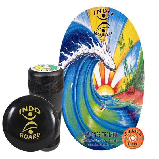 Indo Board Original w/Roller - Bamboo Beach - (DECK, ROLLER, CUSHION)
