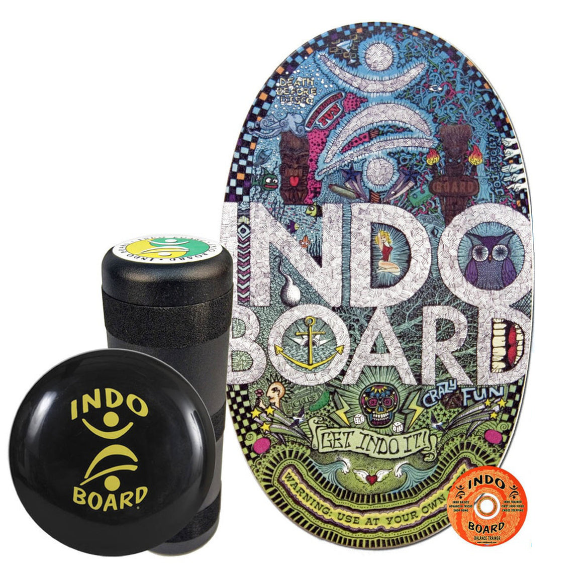 Indo Board Original w/Roller - Doodles - (DECK, ROLLER, CUSHION)