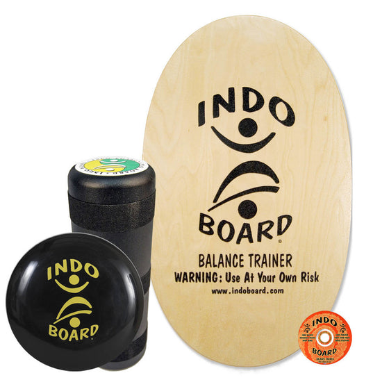 Indo Board Original w/Roller - Natural  - (DECK, ROLLER, CUSHION)
