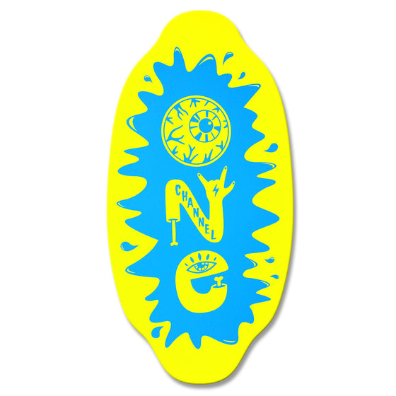 Kayotics skimboards - Channel One - Yellow Blue - X Small