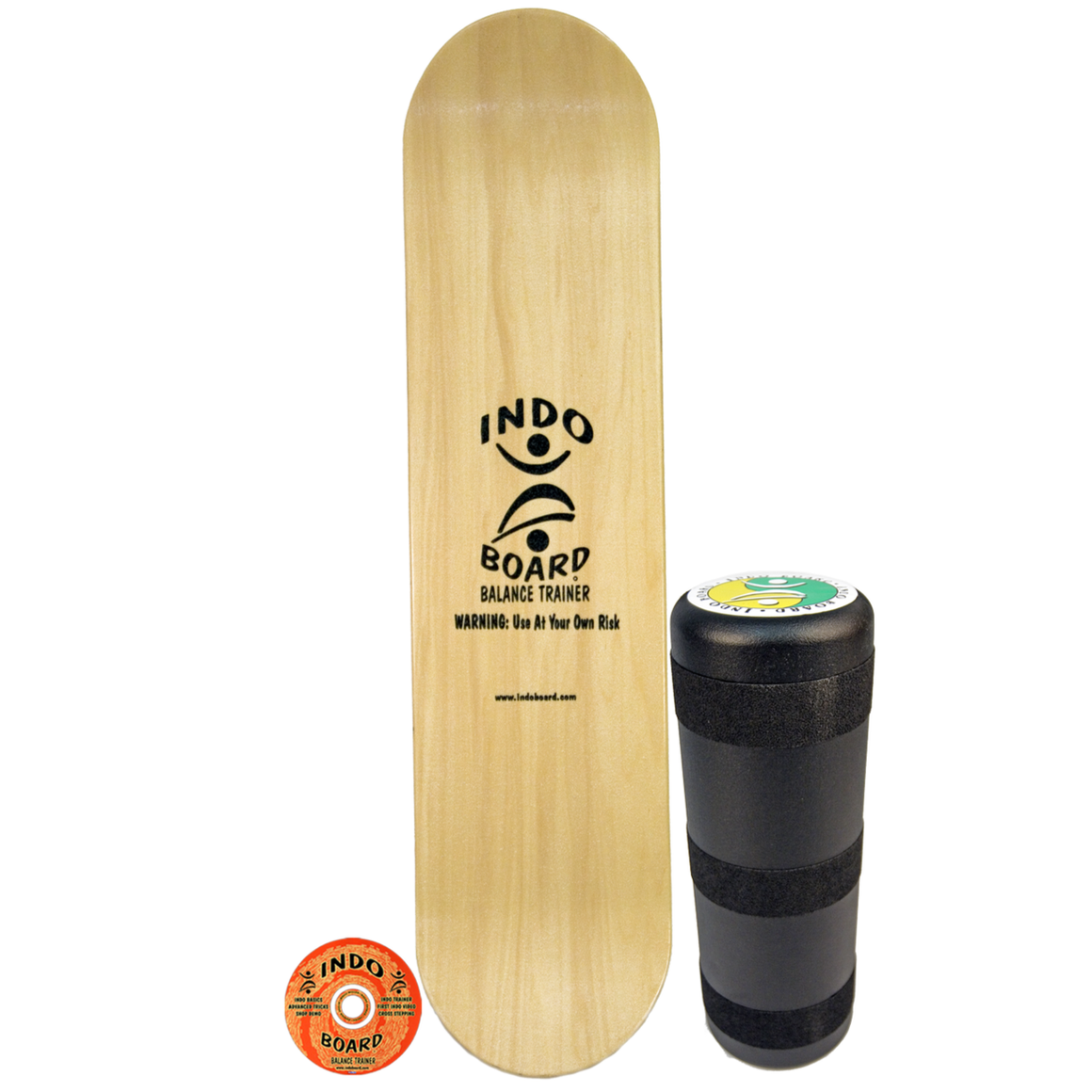 Indo Board Pro Natural Kicktail (Deck & Roller)