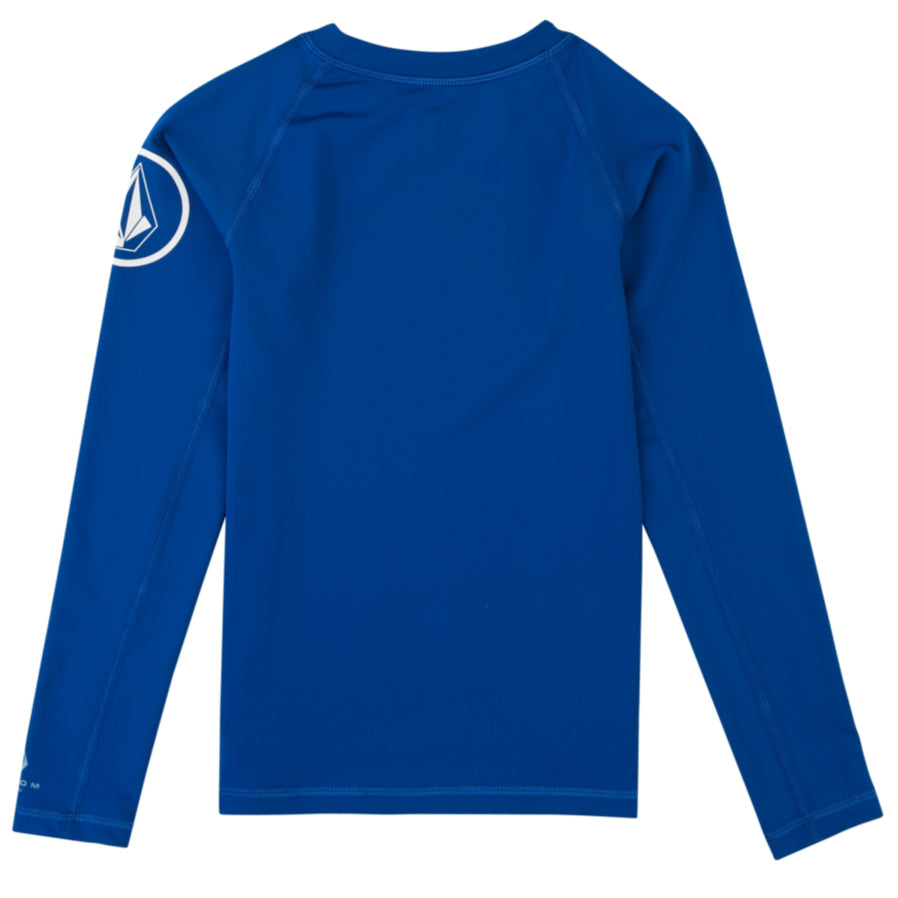 Volcom Youth Rashies - Lido Solid L/S Camper - Blue