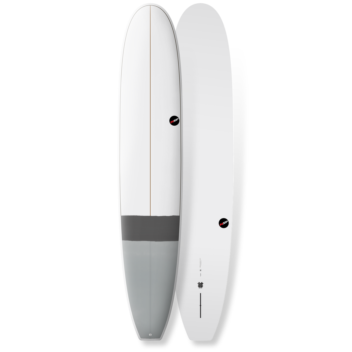 "NSP - 9'6"" E-Plus Longboard Grey"