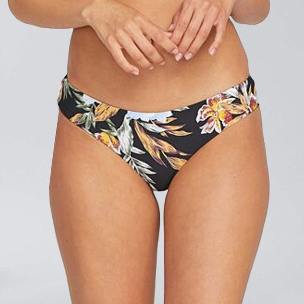 Volcom Women's Tropakill Cheekini  (Bottom) - Black (w/ floral print)