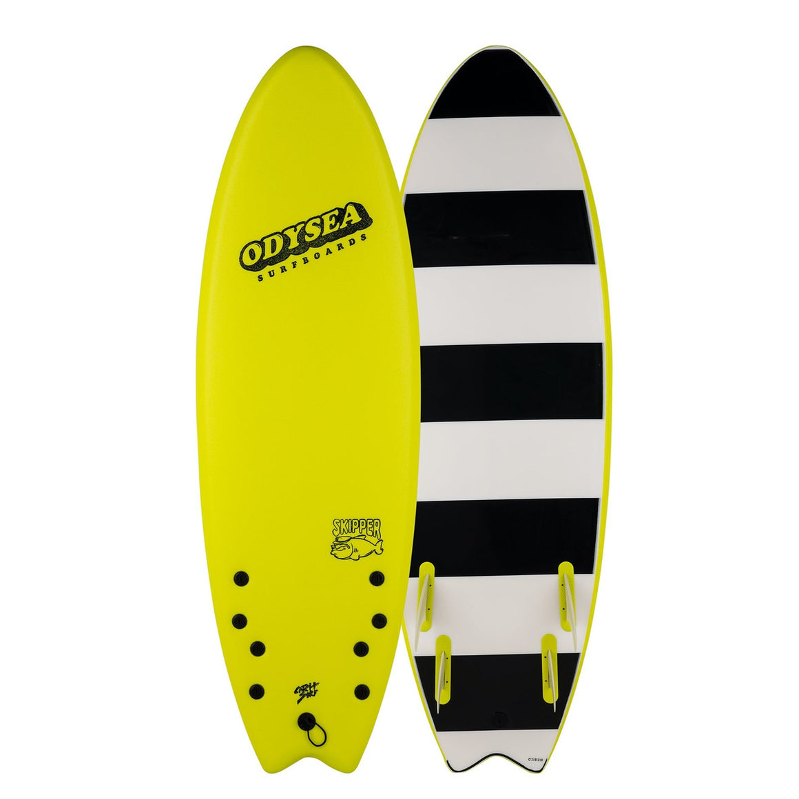 Odysea 6'6 SKIPPER Quad - Electric Lemon 20