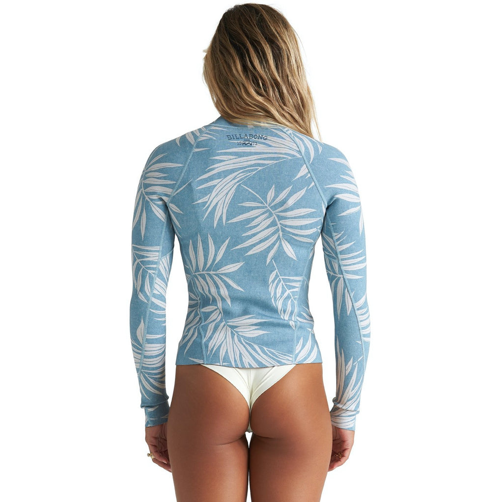 1mm Women's Billabong Peeky Wetsuit Jacket BLUE PALMS