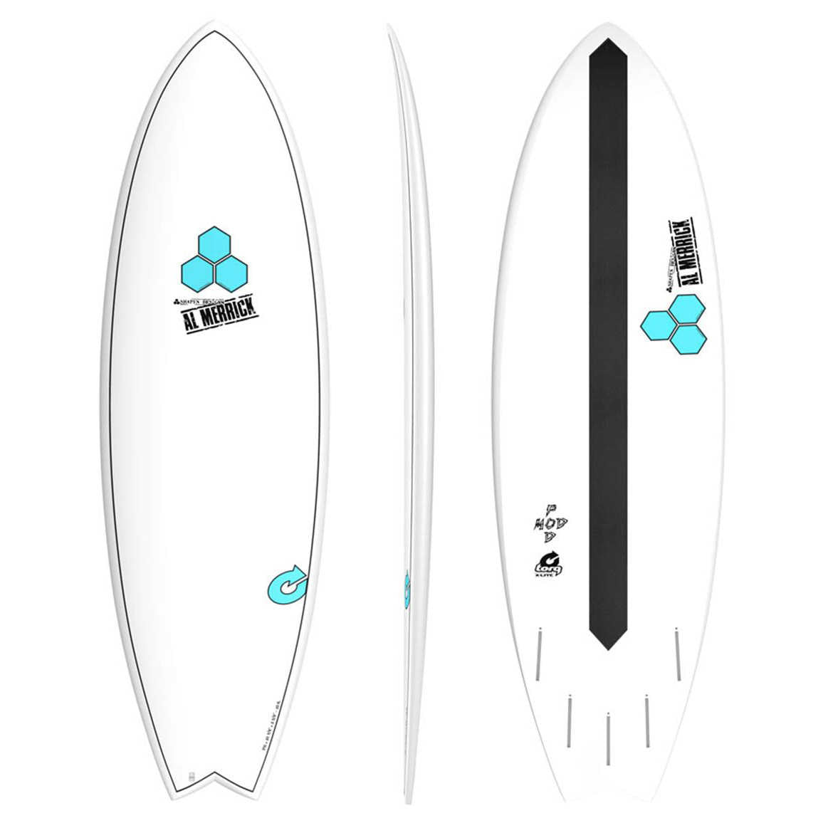 Channel Islands PodMod 5'6 - 5 fin FUT - X-LITE