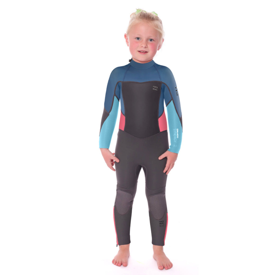3/2 Billabong Toddler - 302 Synergy FZ Fullsuit - AGA (grey/blue/salmon) - Surf Ontario