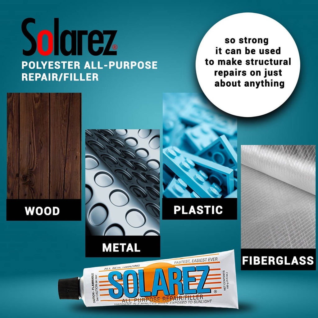 Ding Repair - Solarez Polyester ALL PURPOSE 3.5oz Tube
