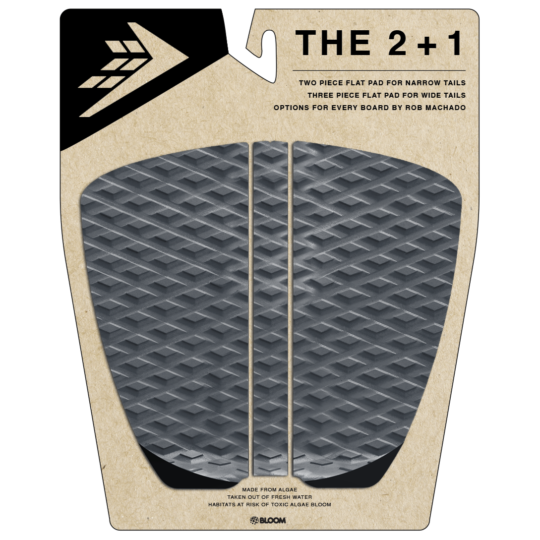 Deck pads - Firewire - 2+1 Flat Traction Pad - Charcoal/Black