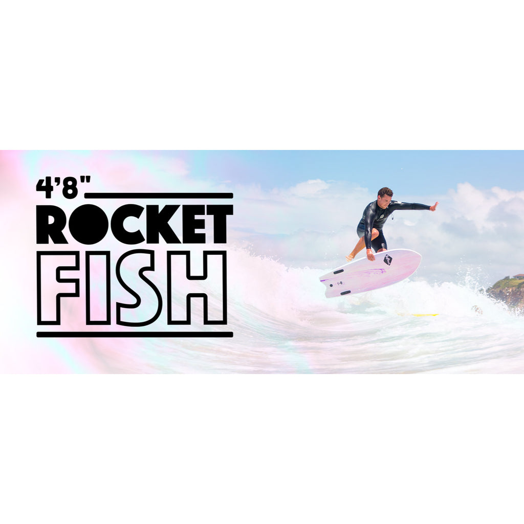 Softech Rocket Fish 4'8 FCS II White/Marble - Surf Ontario