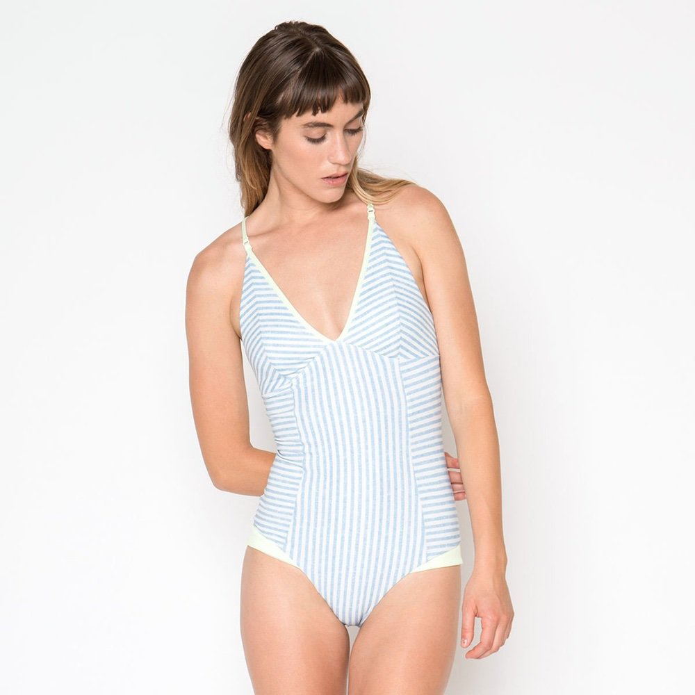Seea - Felina One Piece - Chambray - Surf Ontario