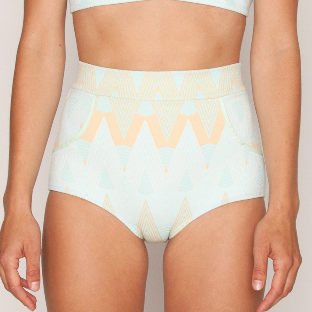 Seea - Georgia High Waist Bikini Bottom - Alma