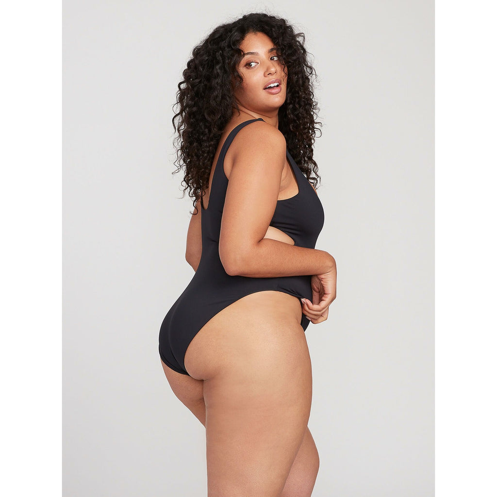 Women's Volcom Simply Seamless 1pc. - Black Plus Size (Full coverage bottom)