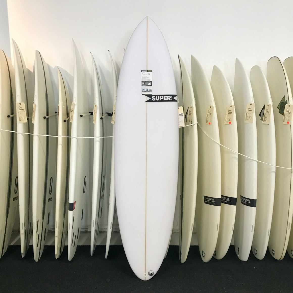 Super Brand The Bigfoot 6'8 - 3-FUT - Colour CLEAR - PU - Carbon tail*
