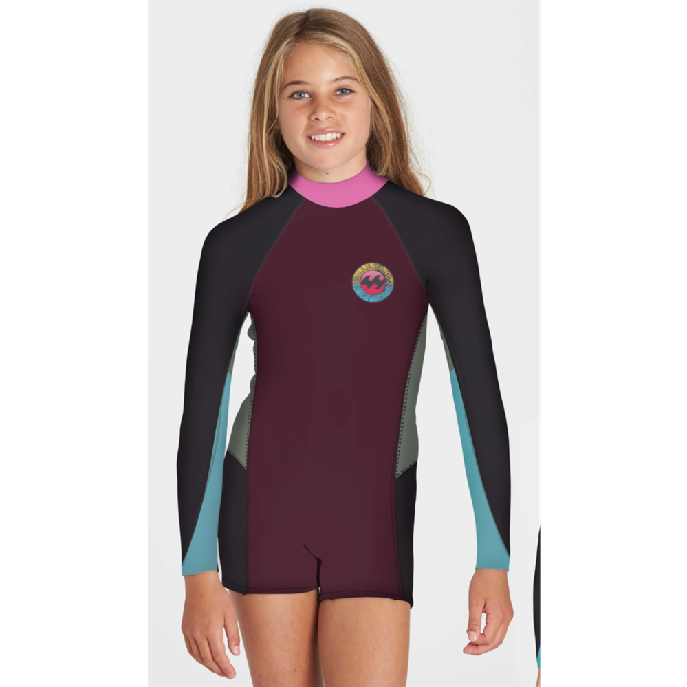 2mm Springsuit Billabong TEEN Surf Capsule Fever L/S Shorty Mulberry - Surf Ontario