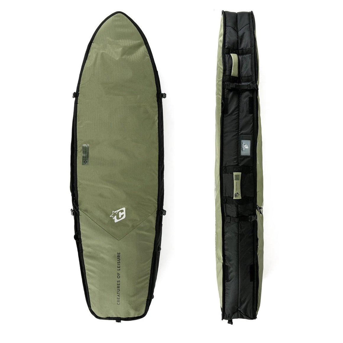 "Creature of Leisure board bag - Fish Triple DT2.0 6'3"" : Military Black"